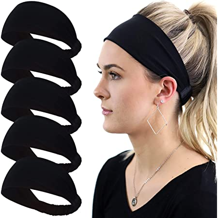 Watercolor Gnomes Fitness Hair Knotted Headbands for Women Nonslip Tie Back Workout Bands