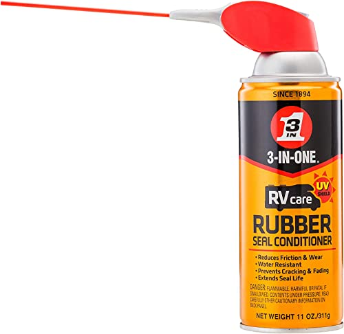 3-IN-ONE 120138-S RVcare Rubber Seal Conditioner with SMART STRAW SPRAYS 2 WAYS, 11 OZ