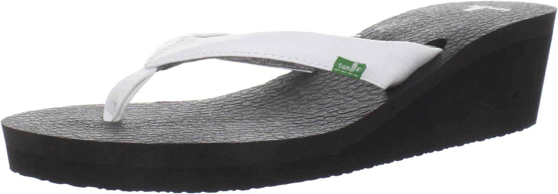 Sanuk Womens Yoga Mat Slide Thong Wedge Sandals