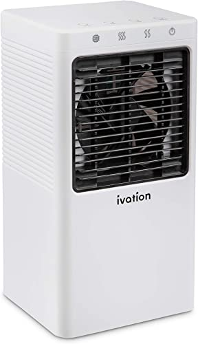 2021 Ivation Personal Mini Air Cooler, new arrival Portable USB-Powered Desktop Evaporative Swamp Cooler Fan Humidifier with 2-Speed Fan, 5-Hour Cooling for Home, online sale Office Desktop or Car Up to 21 Sq/Ft outlet online sale