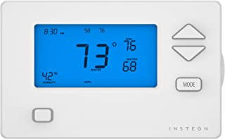 Insteon 2441TH Smart Wall Thermostat, No Heat Pump - Insteon Hub with Alexa & Google Assistant