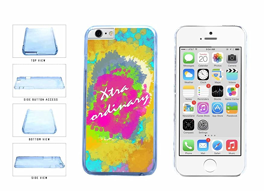 Extraordinary Hippie Dye Clear Plastic Phone Case Back Cover Apple iPhone 6 (4.7 inches screen) includes BleuReign(TM) Cloth and Warranty Label