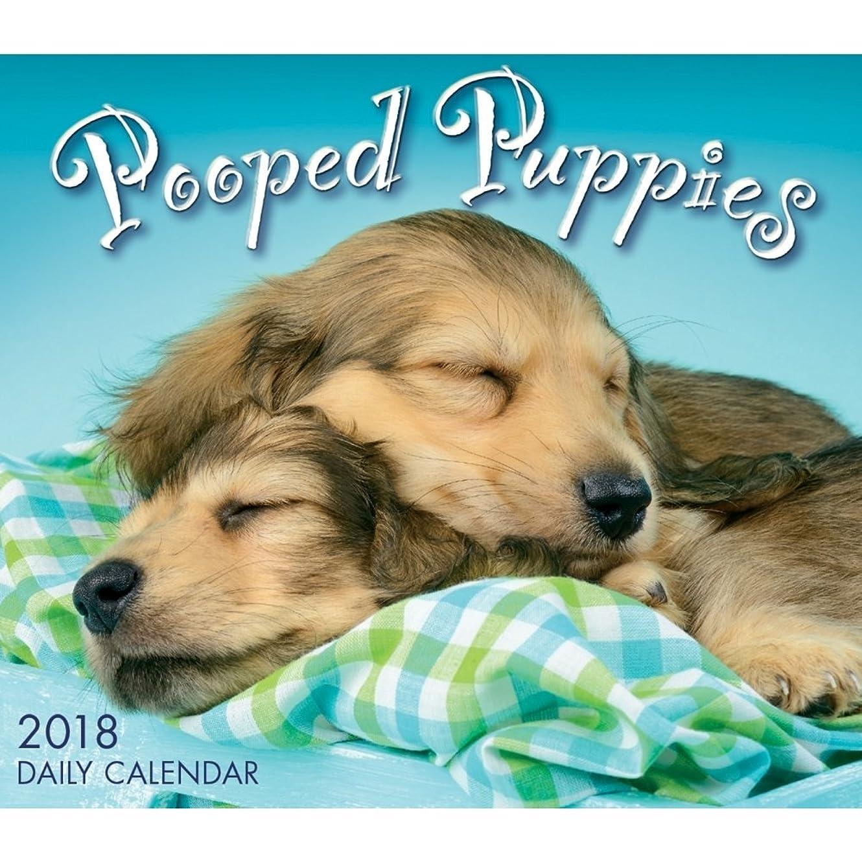 マルコポーロ常にブロッサム2018?Pooped Puppiesデスクカレンダー