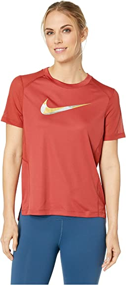 Miler Metallic Short Sleeve Top