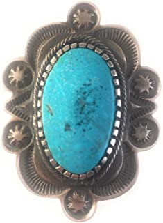 Tommy Jackson Kingman Turquoise Sterling Silver Ring Sz 11 Signed