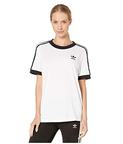adidas Originals 3-Stripes Tee (White/Sun) Women