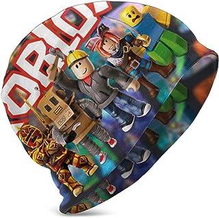 LREFON Ro-b-lox Logo Personajes Niños Casual Beanie Hat Winter Warm Knit Ski Beanies Skull Cap