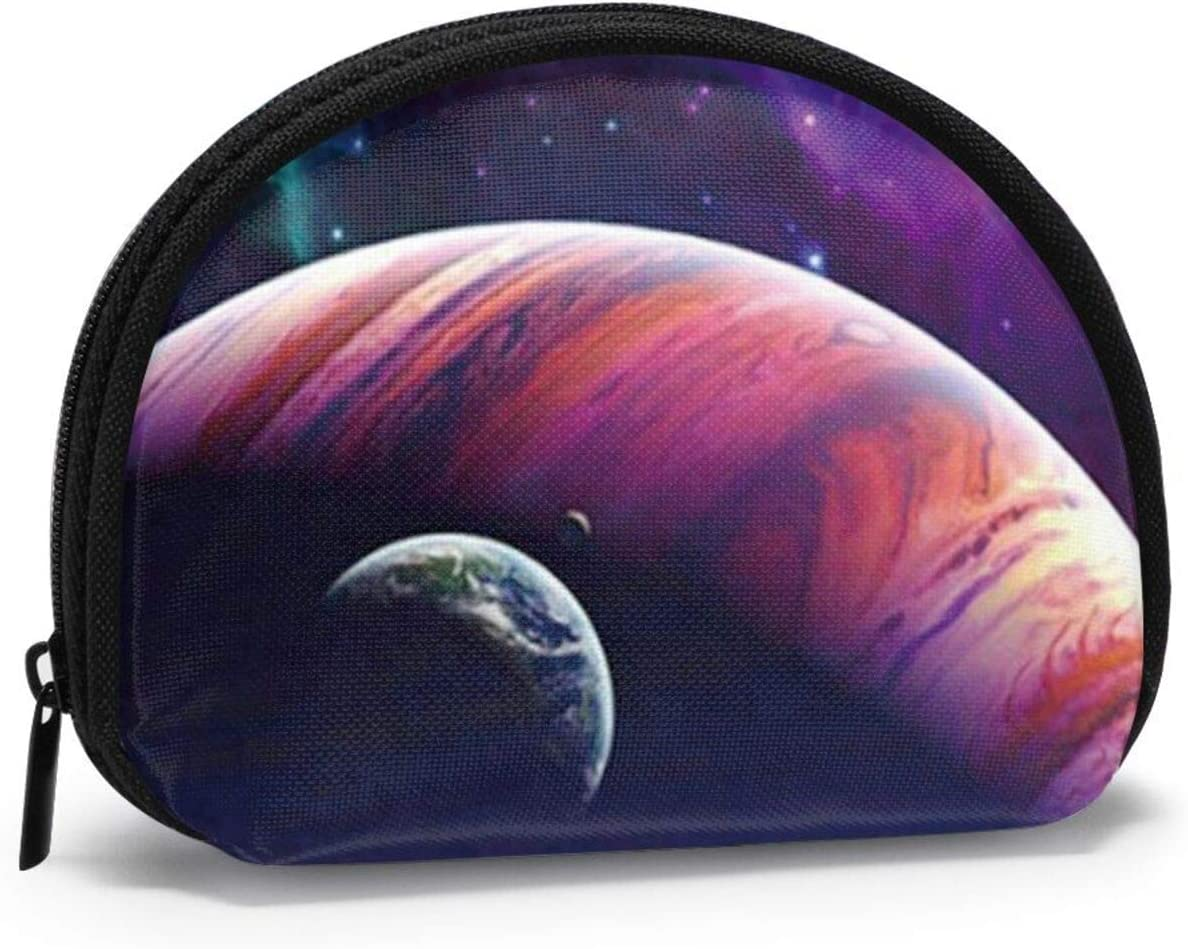 Cute Fashion Coin Purse,Painting Space Planets Small Zipper Wallet Change Pouch Holiday Gifts For Women