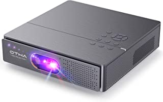 OTHA Mini Proyector Portátil WiFi, 3000 Lúmenes DLP Proyector Cine en Casa 3D Proyector Soporta 4K Video Android Proyector WiFi Bluetooth para Smartphone