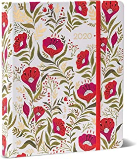 High Note 2020 Planner - Hardcover Day Planner 18-Month - Daily Weekly Monthly Planner Yearly Agenda Organizer: July 2019 - December 2020 Dinara's Red Floral in Gold 7