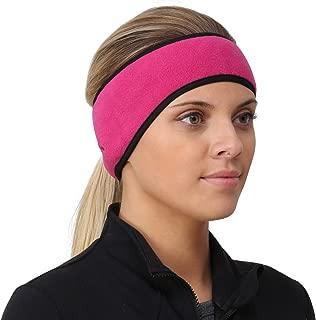 TrailHeads Women's Ponytail Headband   Fleece Earband   Winter Running Headband.