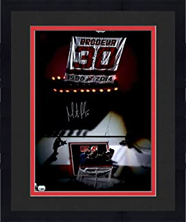 Framed Martin Brodeur New Jersey Devils Autographed 16