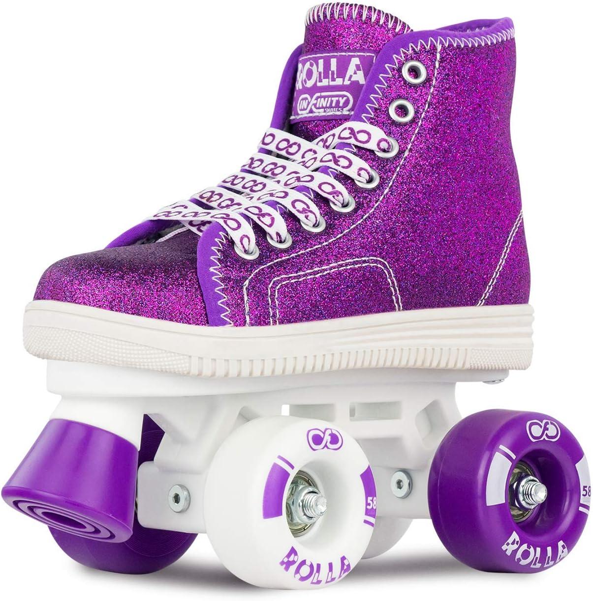 Great Beginner Kids Quad Skates Crazy Skates Rolla Roller Skates for Boys and Girls