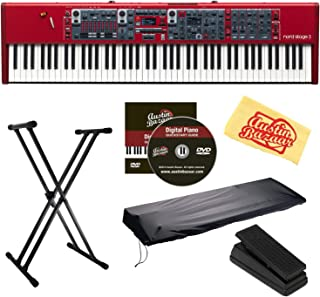 Nord Stage 3 88 Keyboard Bundle with Stand, Sustain Pedal, Dust Cover, Austin Bazaar Instructional DVD, and Polishing Cloth