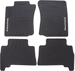 Genuine Toyota Accessories PT908-89000-02 Front and Rear All-Weather Floor Mat (Black), Set of 4