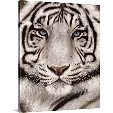 Modern Picture Print on Canvas Tiger Cat Animal 30 shapes it 2293