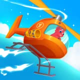 dinosaur helicopter - rescue games for kids