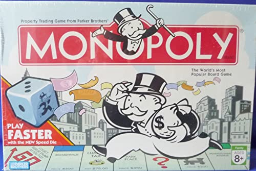 Monopoly 2007 with Faster Play SPEED DIE Board Game by Parker Brougehers