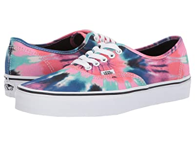 Vans Authentictm ((Tie-Dye) Multi/True White) Skate Shoes