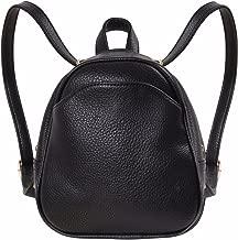 Humble Chic Mini Vegan Leather Backpack - Convertible Shoulder Purse Handbag Tiny Crossbody Bag, Mini Black