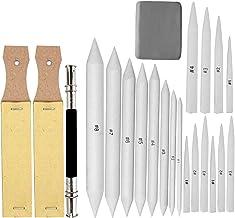 EuTengHao 22 قطعه قطعه قطعه شدن قلع و قلم مو با 2 قیچی مداد شنی ، 1 ابزار تمدید مداد و 1 پاک کن برای لوازم طراحی نقاشی دانشجویی