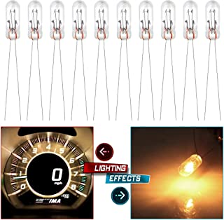 cciyu 10x Mini Bulbs Lamps Replacement fit for GM Speedometer Cluster Backlight Lighting 12v-14v 95ma