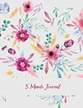 5 Minute Journal: Cute Pink Floral, Daily Mindfulness Planner for Manage Anxiety, Worry and Stress Large Print 8.5 X 11 Da...