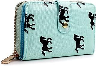 Women Horse Purse Wallet Short Cluth Money Bag Matte Oilcloth