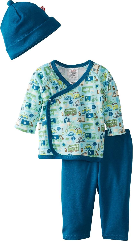 Zutano Baby-Boys Newborn Road Trip Kimono Top with Pant and Hat Set