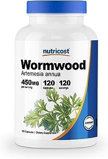 Nutricost Wormwood Capsules 450mg 120 Capsules - Veggie Caps, Gluten Free and Non-GMO
