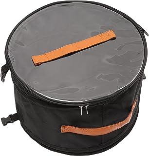 Boîte de rangement ronde pliable avec couvercle - Pour homme et femme - 17 en noir