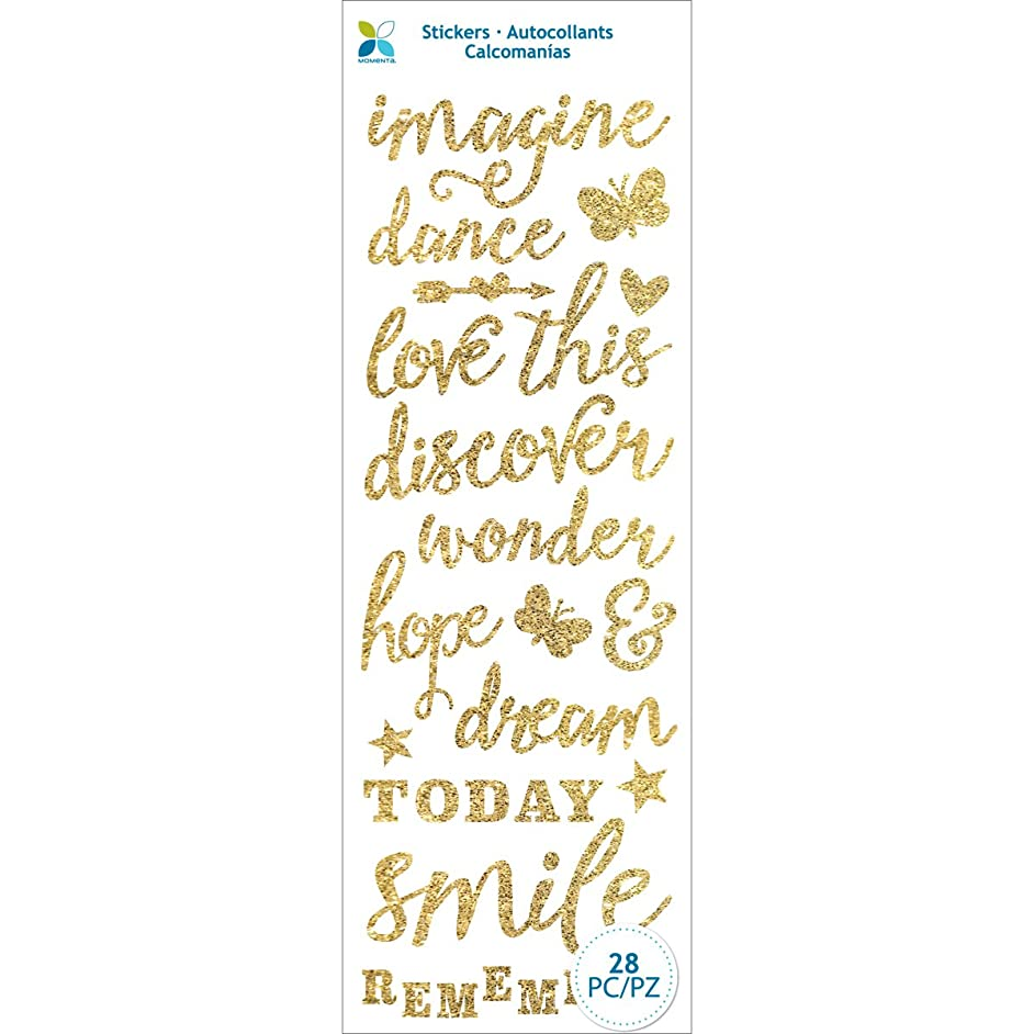 Momenta 25547 Love This Glitter Stickers, Gold
