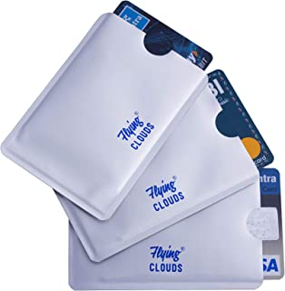flying CLOUDS 3 Pcs RFID Blocking Credit Card Holder Case Cover Sleeve (Silver)