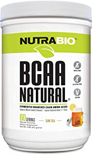 NutraBio BCAA Natural Powder - 60 Servings (Sun Tea)