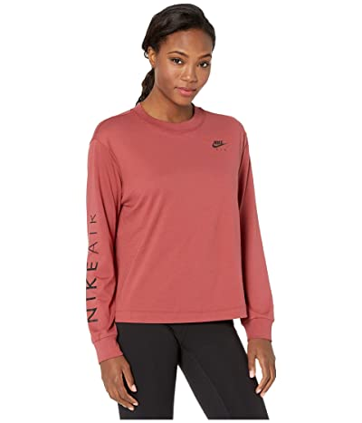 Nike NSW Air Top Long Sleeve (Cedar) Women