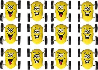 12 Pack Emoji Party Favors Friction Stunt Cars - Car Novelties Emoji Toys for Kids