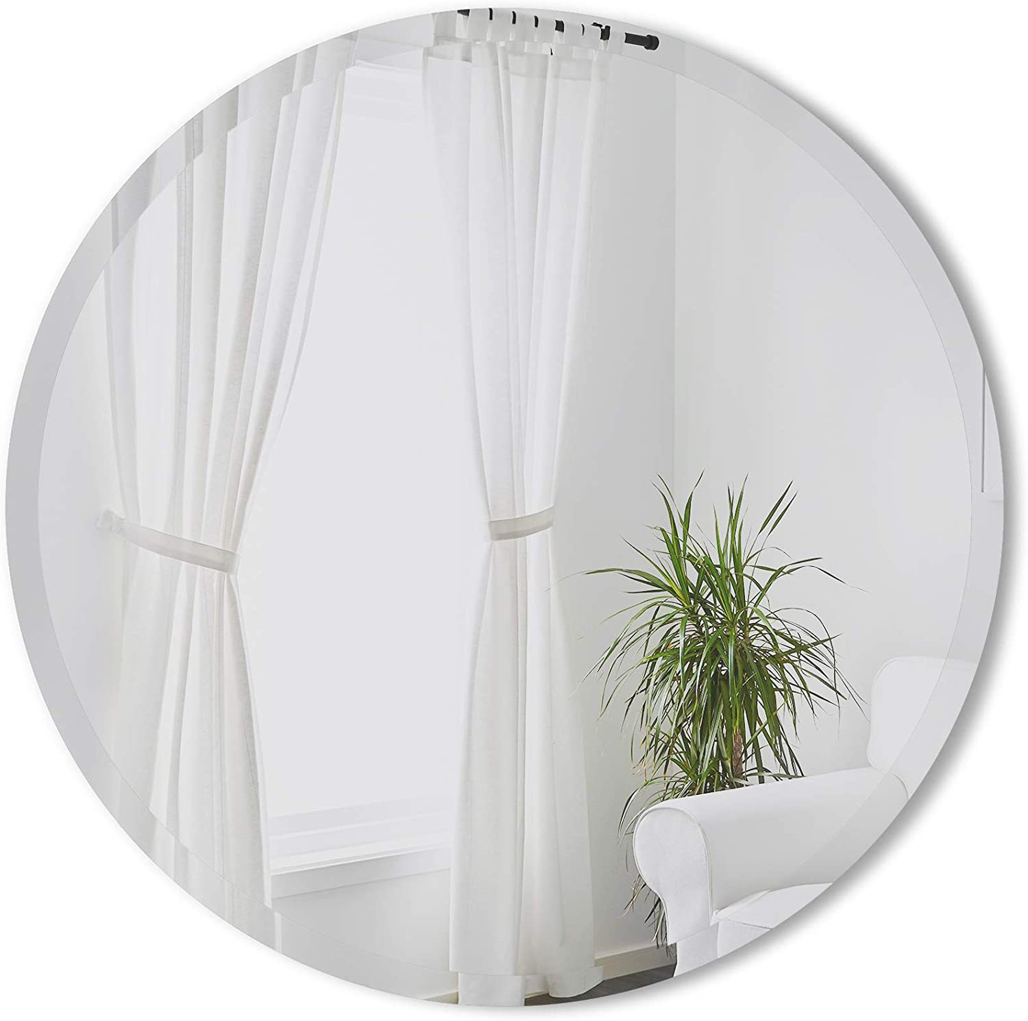 Umbra Hub Free shipping on posting reviews Bevy Round Circular Max 53% OFF Wall for Entryways Mirror Living