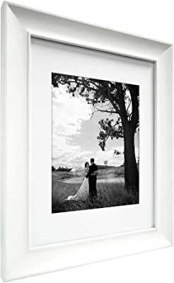 MCS 8x10 Inch Archival Frame with 5x7 Inch Mat Opening, White (47615)