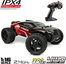 Hosim 1:16 Scale 4WD Remote Control RC Truck G172, High Speed Racing Vehicle 36km/h Radio Controlled Off-Road 2.4Ghz RC Electronic Monster Hobby Truck Buggy for Kids Adults Birthday (Red)