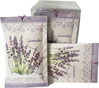 JTHM Lavender Scent Sachets Pack of 12 | Deodorizer, Moth Repellent for Closet Drawers or Cloakroom
