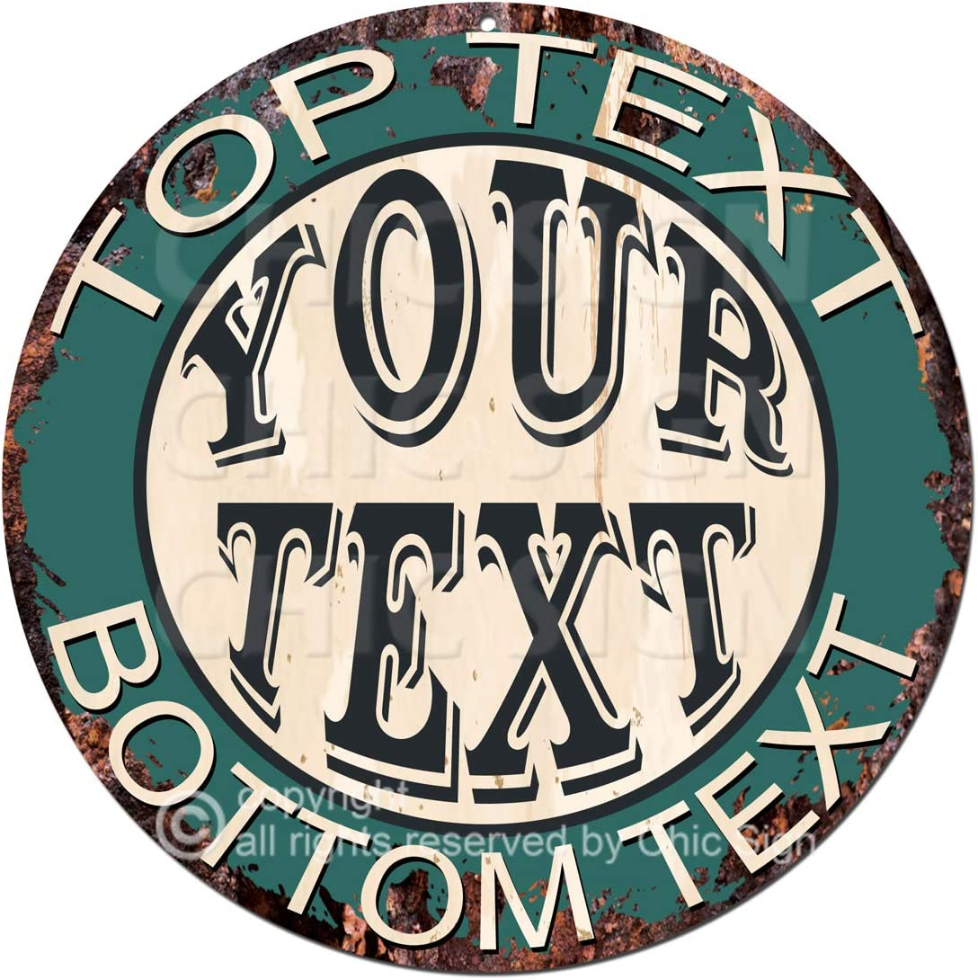 Any Name's Your Text Custom Personalized Rustic Sign Sh Chic Overseas parallel import regular item Max 40% OFF Tin