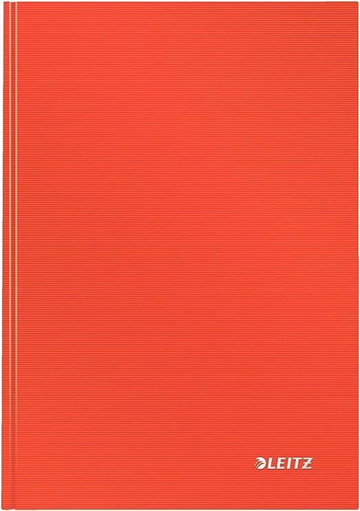 80 fogli a quadretti 46640001 Carta 90 gr//mq Bianco Solid Leitz Quaderno A4 con copertina rigida