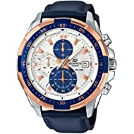 Casio Edifice EFR-539L-7C Chronograph Leather Strap Analog Men Watch