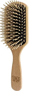Tek paddle hair brush in ash wood with long pins - Handmade in Italy