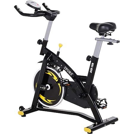 HOMCOM Bicicleta Estática Profesional Bicicleta Fitness con Pantalla LCD Asiento e Intensad Ejercicio Regulables Resistencia Magnética ...