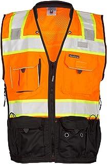 ML Kishigo 1191 Economy Series Ultra Cool Mesh 6 Pocket Vest Lime 1191 4X-5X Fits 4X-Large and 5X-Large