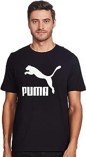 تي شيرت كلاسيكي بطبعة شعار العلامة التجارية للرجال من بوما