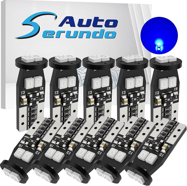 Serundo Auto 194 LED Bulb 168 2825 Car Do W5W Popular T10 for Gorgeous Bulbs