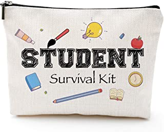 Stuents Survival Kit, StudentGifts,Big Pencil Case,Pencil Pouch Gifts,StudentAppreciationGifts,Back to School Gifts for Girls, Best Students Gift Dorm Cosmetic Bag Preschool Elementary High School