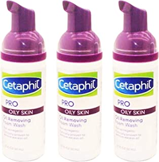 Cetaphil Pro Oil Removing Foam Wash, Travel Size 1.7 oz. (Pack of 3)